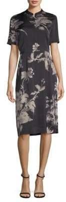 Donna Karan Printed Knee-Length Dress