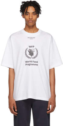 Balenciaga White World Food Programme T-Shirt