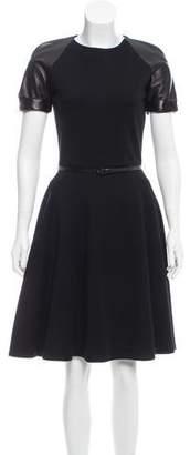 Bill Blass Belted A-Line Dress