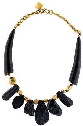 Ashley Pittman Horn & Tourmaline Collar Necklace