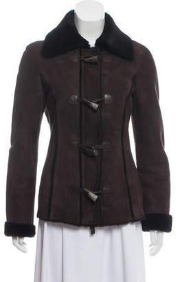 Michael Kors Shearling Collared Jacket