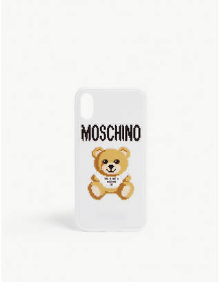 Moschino Pixel teddy iPhone X case