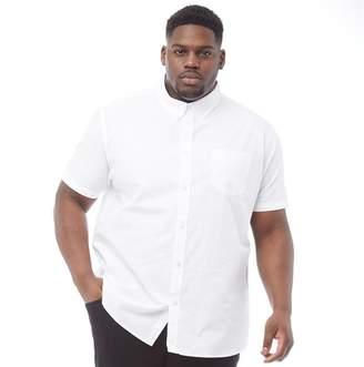 Ben Sherman Plus Size Short Sleeve Oxford Shirt White