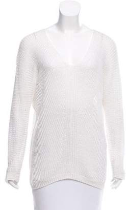 Vince Linen Open-Knit Sweater