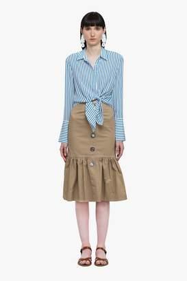 Genuine People Cotton Blend Mermaid Skirt