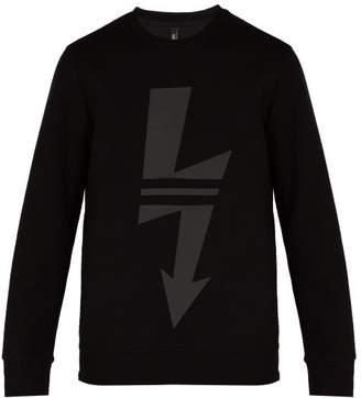 Neil Barrett Lightning Bolt Jersey Sweatshirt - Mens - Black