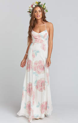 Show Me Your Mumu Godshaw Goddess Gown ~ GWSXMUMU Wedding Bells Floral