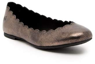Børn Allie Scalloped Ballet Leather Flat