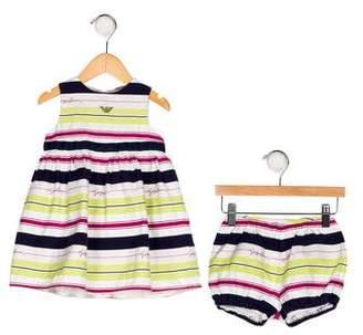 Giorgio Armani Girls' Stripe Two-Piece Set
