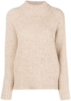 Agnona cable knit raglan chunky jumper