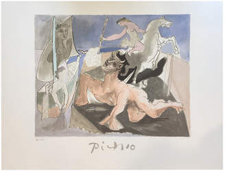 Minotaur Hirth's Broadway Composition With By Pablo Picasso
