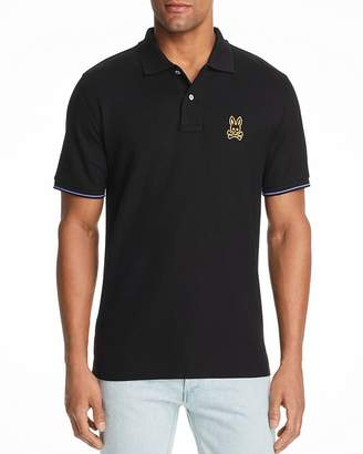 Psycho Bunny Camouflage-Embroidered Logo Classic Fit Polo Shirt