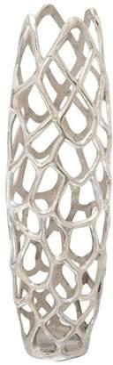 Benzara Creative Aluminum Decorative Vase