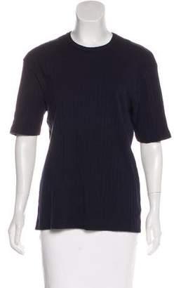 Barneys New York Barney's New York Rib Knit Short Sleeve Top