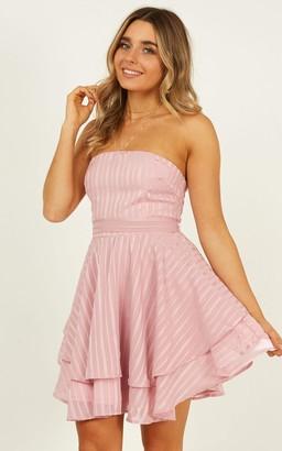 Showpo Small wonders dress in blush - 4 (XXS) Curve & Plus Size