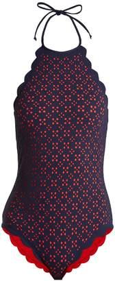 Mott scallop-edged swimsuit