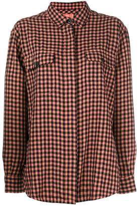 Closed checked long-sleeve shirt