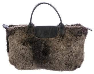 Longchamp Leather-Trimmed Rabbit Le Pilage Tote - ANIMAL PRINT - STYLE