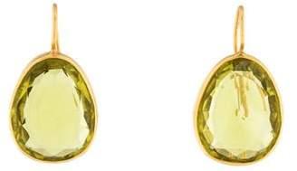 18K Quartz Drop Earrings