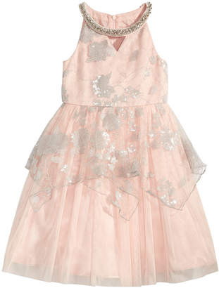 Bonnie Jean Little Girls Embellished Neck Sequin Lace Dress