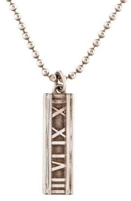 Tiffany & Co. Atlas Bar Pendant Necklace