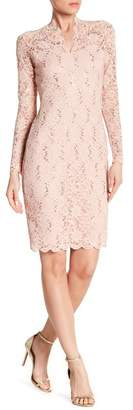 Marina Long Sleeve Sequin Lace Dress