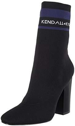 KENDALL + KYLIE Kendall & Kylie Women's Kkkyle2 Boots, (Black/dk Blue10634/greyknit/knit/knit)