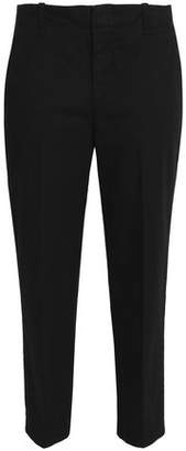 Vince Cropped Cotton-Blend Faille Tapered Pants