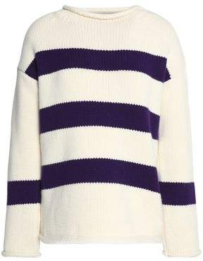 MiH Jeans Striped Wool And Cashmere-Blend Sweater