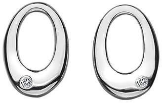Hot Diamonds Sterling Silver and Diamond Orbit Silver Earrings