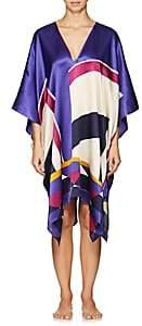 Eres Women's Artwork Pop Art Silk Caftan - 00713-Multicolore Addict