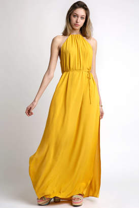 Capulet Halter Neck Solid Maxi Dress