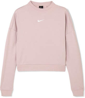 Nike Dry Cropped Cutout French Terry Sweatshirt - Blush