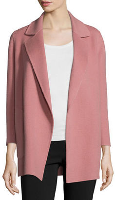 Theory Clairene New Divide Open-Front Coat $595 thestylecure.com