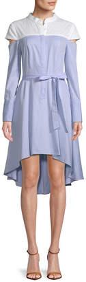 BCBGMAXAZRIA High-Low Shirtdress