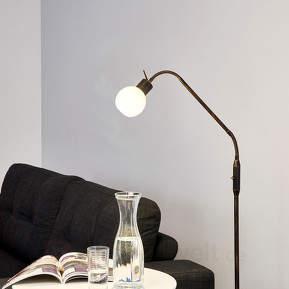 Landhaus-LED-Stehleuchte Elaina, rostfarben