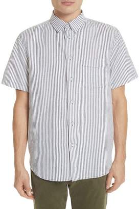 Rag & Bone Stripe Short Sleeve Sport Shirt