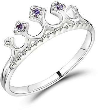 Jo for Girls Sterling Silver Princess Tiara Ring - Size F