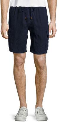 Vilebrequin Solid Linen Cargo Shorts $230 thestylecure.com