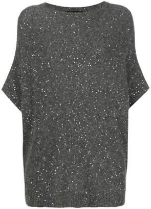 Fabiana Filippi sequin embellished short sleeve sweater
