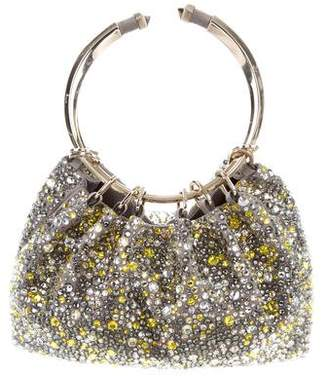Valentino Bebop Loop Embellished Clutch