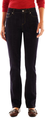 LIZ CLAIBORNE Liz Claiborne Classic Straight Leg Jeans - Tall $29.99 thestylecure.com