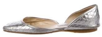 Jimmy Choo Metallic Leather Flats