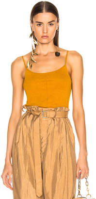 Lemaire Second Skin Tank Top in Mustard | FWRD