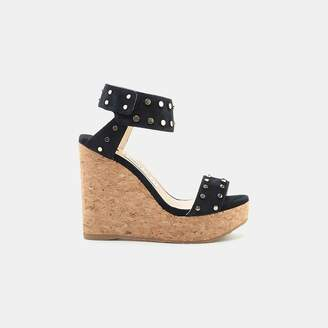 Jimmy Choo Nelly Studded Cork Wedge