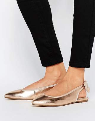 London Rebel TieBack Point Flat Shoes $46 thestylecure.com