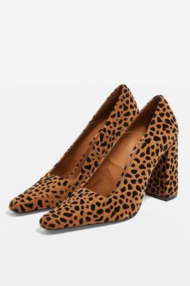 Topshop GEENA Block Heel Court Shoes