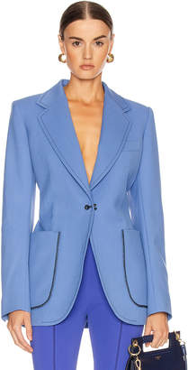 Thierry Mugler Single Breasted Jacket in Blue   FWRD