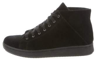 Eileen Fisher Velvet High-Top Sneakers