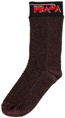 Prada Lurex Net Knit Socks